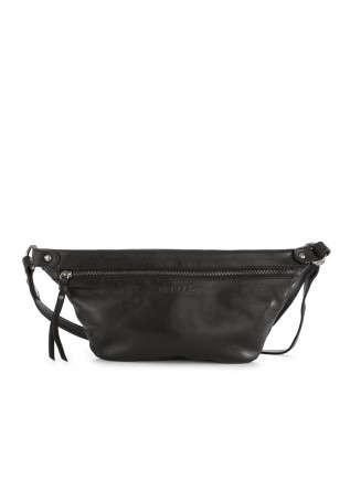 UNISEX BAGS POUCH BAG GENUINE LEATHER BLACK REHARD