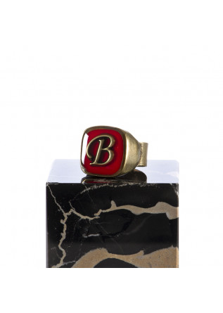 WOMEN'S ACCESSORIES RING LETTER 'B' HANDMADE RED UNIQUE