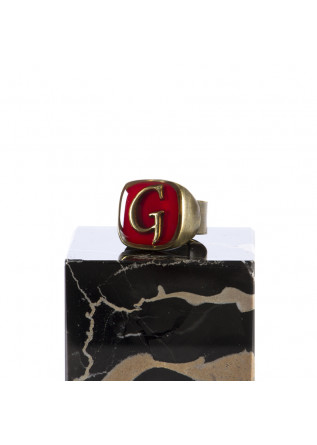 WOMEN'S ACCESSORIES RING LETTER 'G' HANDMADE RED UNIQUE
