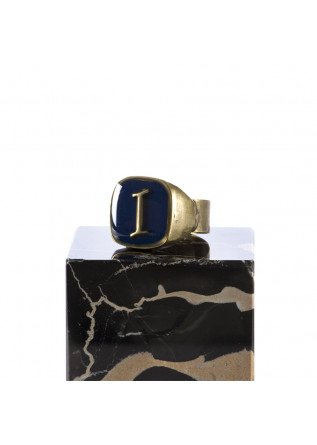WOMEN'S ACCESSORIES RING HANDMADE LETTER 'I' DARK BLUE UNIQUE