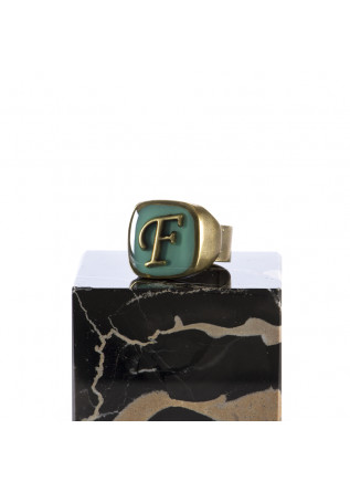 WOMEN'S ACCESSORIES RING HANDMADE LETTER 'F' LIGHT BLUE UNIQUE