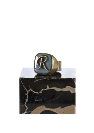 WOMEN'S ACCESSORIES RING HANDMADE LETTER 'R' LIGHT BLUE UNIQUE