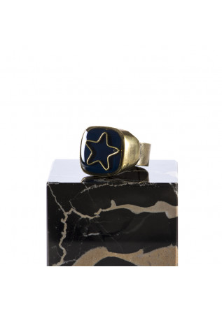 WOMEN'S ACCESSORIES RING HAND GLAZED 'STAR' BLUE UNIQUE