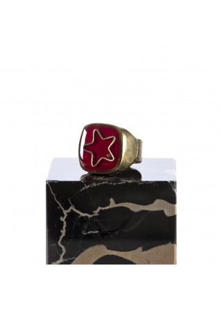 WOMEN'S ACCESSORIES RING HAND GLAZED 'STAR' RED UNIQUE