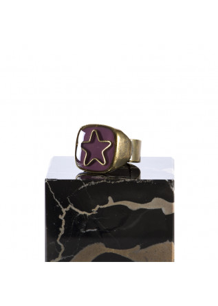 WOMEN'S ACCESSORIES RING HANDMADE 'STAR' PURPLE UNIQUE