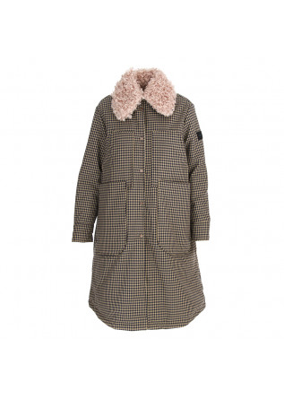 WOMEN'S CLOTHING REVERSIBLE COAT BEIGE / BLACK BEIGE CHEQUERED OOF
