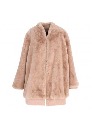 WOMEN'S CLOTHING REVERSIBLE COAT FAUX FUR PINK / BROWN OOF
