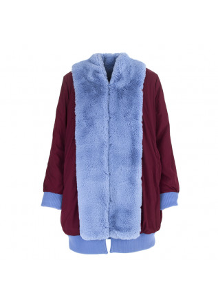 WOMEN'S CLOTHING REVERSIBLE COAT LIGHT BLUE / BORDEAUX OOF