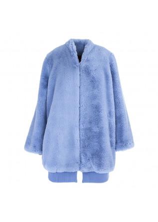 WOMEN'S CLOTHING REVERSIBLE COAT LIGHT BLUE / BORDEAUX OOF
