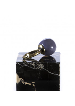WOMEN'S ACCESSORIES HANDMADE RING CERAMIC PURPLE BALL TOLEMAIDE