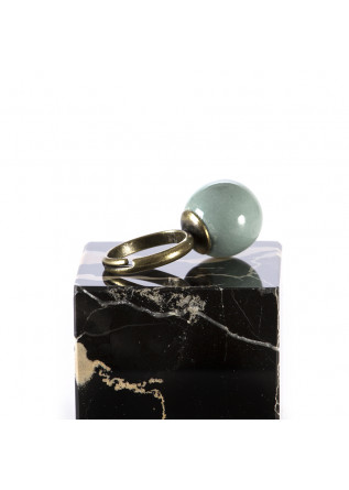 WOMEN'S ACCESSORIES HANDMADE RING / SAGE GREEN CERAMIC BALL TOLEMAIDE