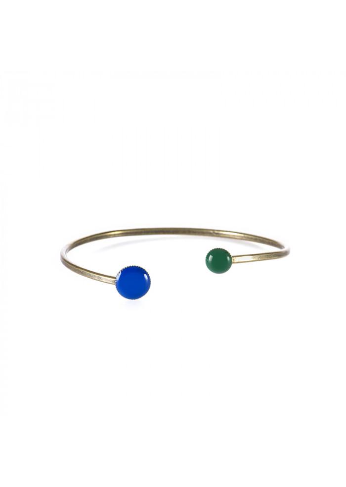 WOMEN'S ACCESSORIES BRASS BRACELET DARK BLUE / GREEN UNIQUE