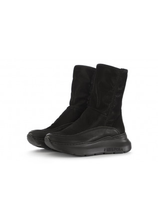 WOMEN'S SHOES LEATHER BOOTS WITH MAXI SOLE IN BLACK ANDIAFORA