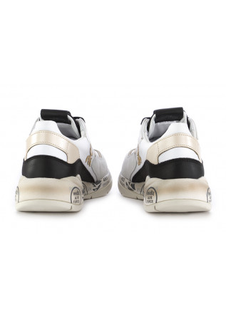 WOMEN'S SNEAKERS PREMIATA|WHITE BLACK LEATHER