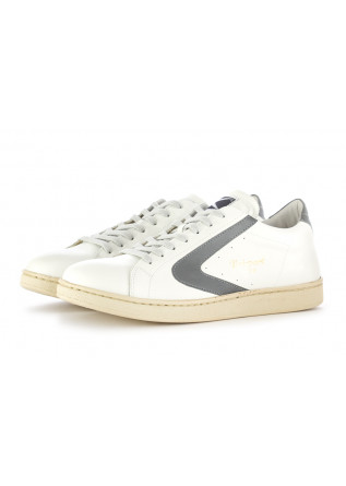MEN'S SNEAKERS VALSPORT 1920 | WHITE / REFLECTIVE GREY LOGO LEATHER