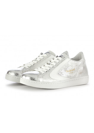 "SNEAKERS DONNA VALSPORT 1920 | ARGENTO PELLE ""CRACK"" METALLIZZATO"