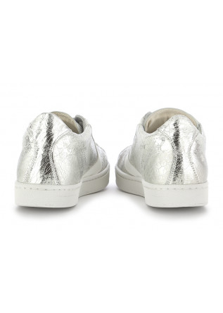 "WOMEN'S SNEAKERS VALSPORT 1920 | SILVER / WHITE ""CRACK"" LEATHER"