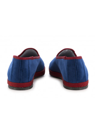 WOMEN'S FLAT SHOES MIEZ | BLUE / AMARANTH VELVET