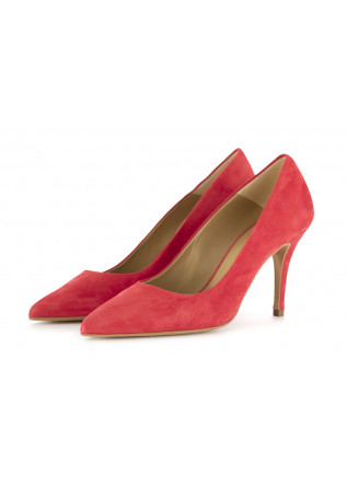 WOMEN'S STILETTO SHOES CRISPI | CORAL RED SUEDE LEATHER
