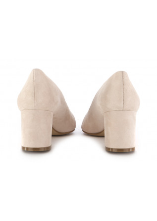 WOMEN'S PUMPS CRISPI | POWDER BEIGE SUEDE LEATHER