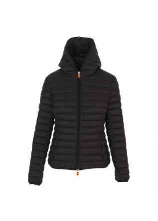 WOMEN'S DOWN JACKET SAVE THE DUCK BLACK WATERPROOF