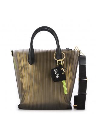 WOMEN'S BAG GUM CHIARINI BLACK / GOLD PLEATED