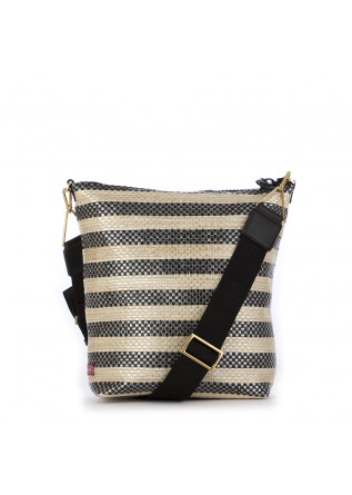 WOMEN'S BAG GUM CHIARINI | BLACK / BEIGE PLEATED
