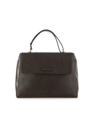 WOMEN'S SHOULDER BAG ORCIANI SVEVA DARK BROWN