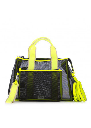 WOMEN'S HANDBAG GUM BLACK FLUO YELLOW