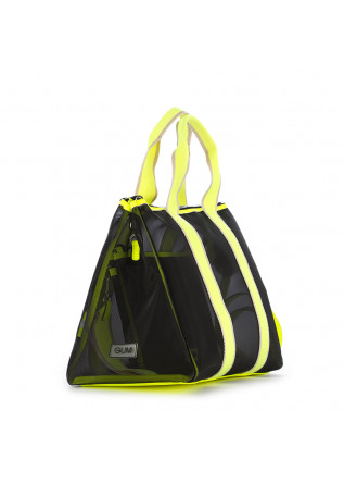 WOMEN'S HANDBAG GUM CHIARINI | BLACK / FLUO YELLOW