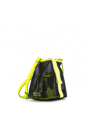 WOMEN'S HANDBAG GUM CHIARINI | BLACK/NEON YELLOW