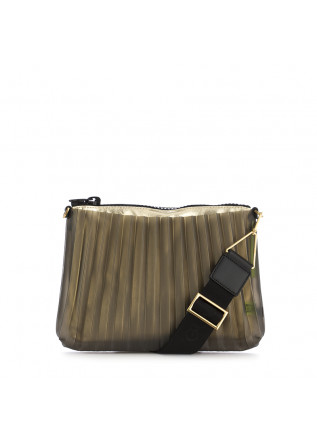 WOMEN'S CLUTCH BAG GUM CHIARINI GOLD  PLEATED