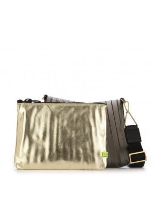 WOMEN'S CLUTCH BAG GUM CHIARINI | GOLD / BLACK PLEATED