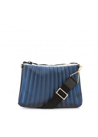 WOMEN'S CLUTCH GUM CHIARINI BLUE PLEATED