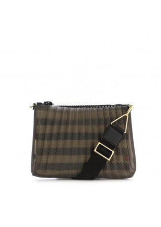 WOMEN'S CLUTCH BAG GUM CHIARINI BEIGE BLACK PLEATED