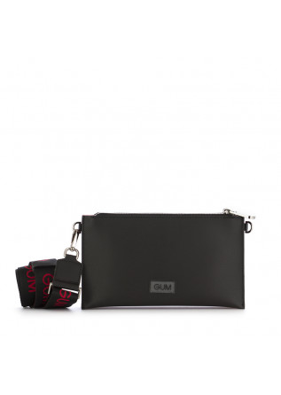 WOMEN'S CLUTCH BAG GUM CHIARINI RE-BUILD BLACK RED SILVER