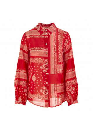 WOMEN'S SHIRT SEMICOUTURE PAISLEY RED