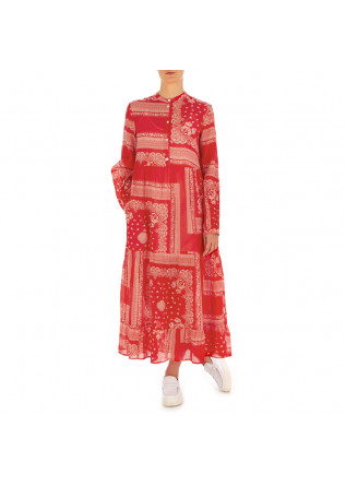 WOMEN'S DRESS SEMICOUTURE | RED PAISLEY