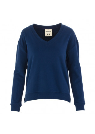 WOMEN'S SWEATSHIRT SEMICOUTURE BLUE NAVY