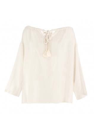 WOMEN'S SHIRT SEMICOUTURE LIGHT BEIGE