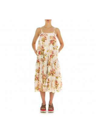 WOMEN'S DRESS SEMICOUTURE | BEIGE FLOWER PRINT