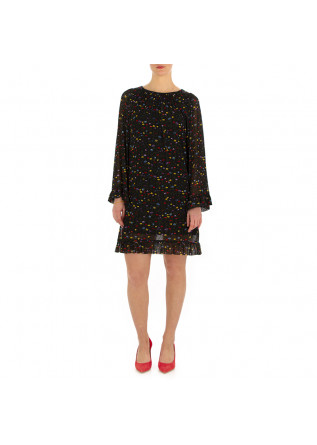 WOMEN'S DRESS SEMICOUTURE | BLACK / FLOWERS
