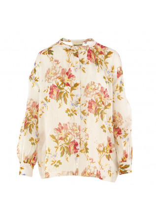 WOMEN'S SHIRT SEMICOUTURE | BEIGE / FLOWER PRINT