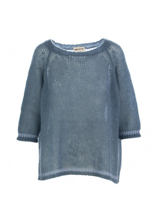WOMEN'S SWEATER SEMICOUTURE POWDER BLUE MOHAIR