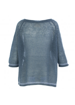 WOMEN'S SWEATER SEMICOUTURE | POWDER BLUE MOHAIR