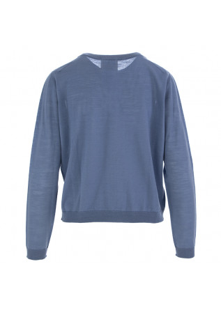 WOMEN'S SWEATER SEMICOUTURE | LIGHT BLUE VIRGIN WOOL