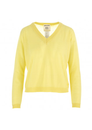 WOMEN'S SWEATER SEMICOUTURE LIGHT YELLOW