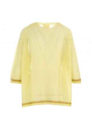 WOMEN'S SWEATER SEMICOUTURE | LIGHT YELLOW MOHAIR