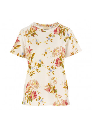 WOMEN'S T-SHIRT SEMICOUTURE BEIGE FLOWER PRINT
