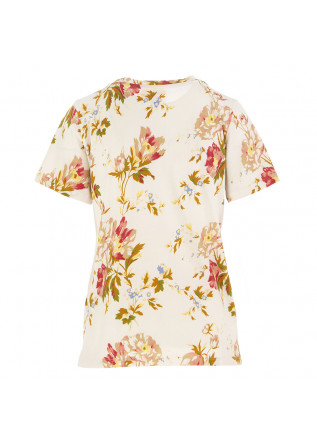 WOMEN'S T-SHIRT SEMICOUTURE | BEIGE / FLOWER PRINT